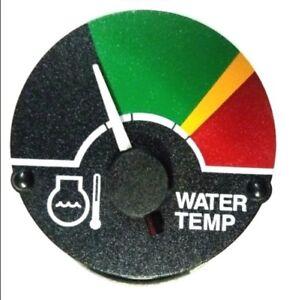 """JOHN DEERE A B TRACTOR WHITE FACED WATER TEMP GAUGE W//36/"""" LEAD    5725"""