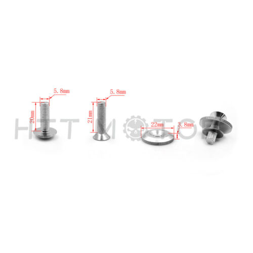 Silver Aluminum Motorcycle Fairing Bolts Kit Washers For 1998-1999 Yamaha YZF R1