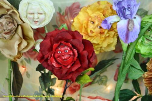 "ALICE IN WONDERLAND RESIN TALKING FLOWERS /""HARMONY/"" BY SUTHERLAND"