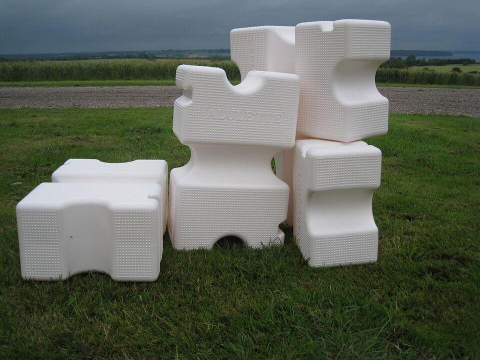 Trailer Cavaletti, plastblok - Hvid, lastevne (kg):