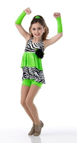 Wild At Heart Dance Costume Animal Print Shorts /& Top wMitts CHOICE Color /& Size