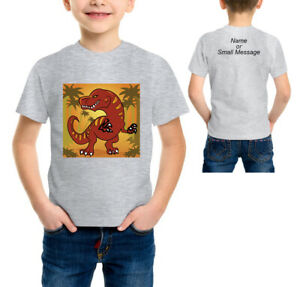 Personalised Dinosaur Dino Line Up Boys Children/'s Kids T Shirts T-Shirt Top