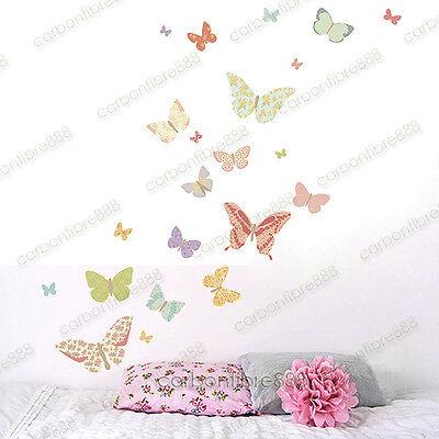 25 Floral Butterflies Wall Stickers Art Decal Home Kids Decor Removable Vinyl