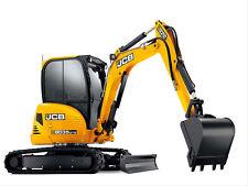 JCB 8035 ZTS Mini Escavatore decalcomania Set con Safty AVVERTIMENTO