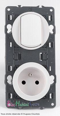 Interrupteur prise de courant 2P+T 16A  67001+67111+68001+68111+80252