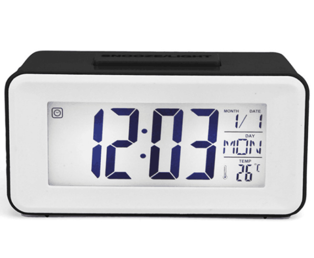 LED Digital Clock Backlight Control LCD Snooze Electronic Alarm Clocks Display