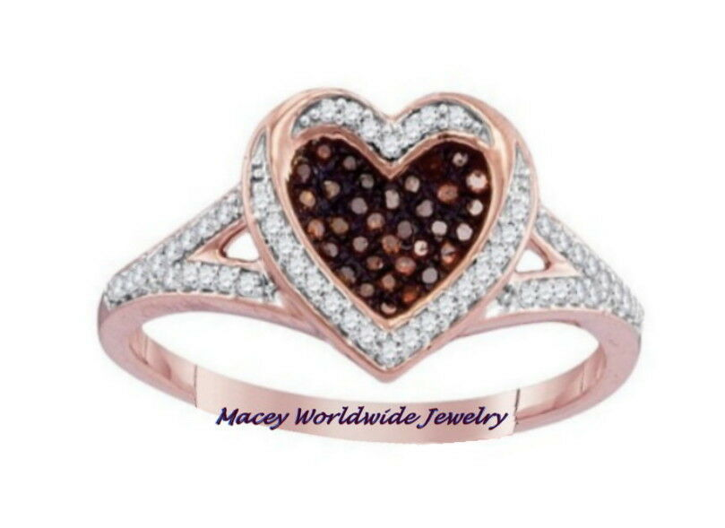 Brandy Diamond® Chocolate Brown 10K pink gold Forever In My Heart Ring