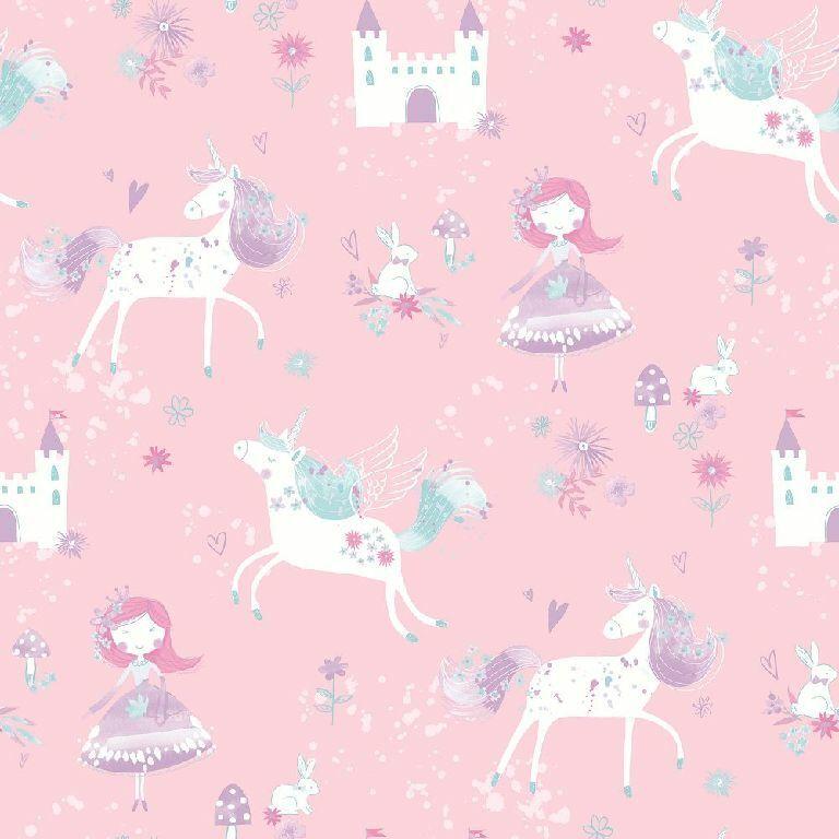 Essener Tapete Just 4 Bimbi 2 G56523 Unicorno Principessa Lucchetto