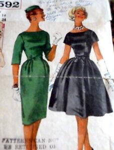 *LOVELY VTG 1960s DRESS Sewing Pattern 14//34