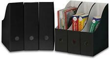 Simple Houseware Black Magazine File Holder Organizer Box Pack Of 6