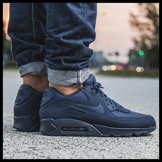 super popular 55a8a 537ef NIKE AIR MAX 90 ESSENTIAL midnight navy midnight navy 537384-412 Mens sz 13