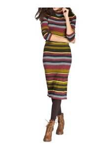 Kleid Strickkleid HEINE Aniston bunt gestreift knielang Gr ...