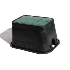 NDS-Rectangular-Irrigation-Valve-Box-Cover-Sprinkler-Plastic-Black-Durable-New
