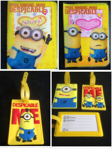 MINIONS-DESPICABLE-ME-Childrens-Kids-Passport-Cover-Holder-Luggage-Label-Tag