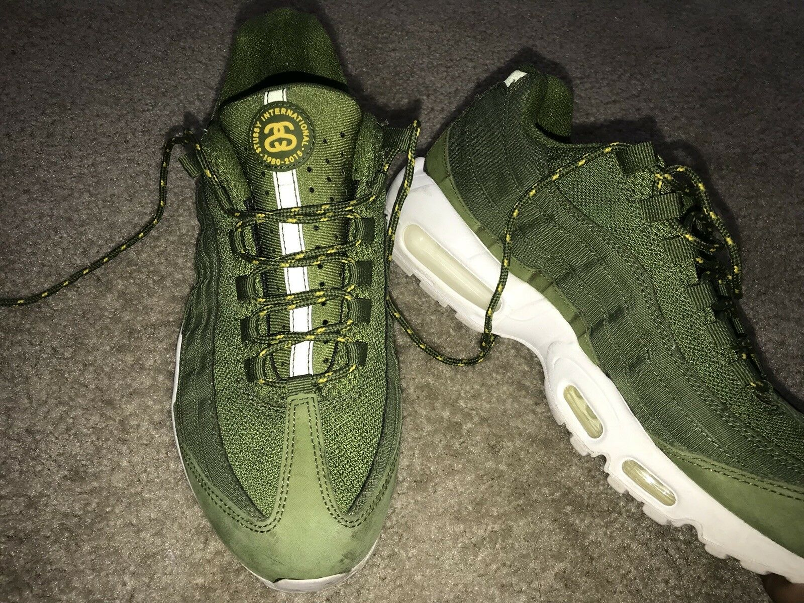 GREEN NIKE AIRMAX STUSSY  Cheap and fashionable