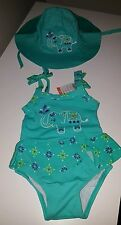 Gymboree bathing suit & hat Safari Smiles Elephant NWT 12-18 months Set summer