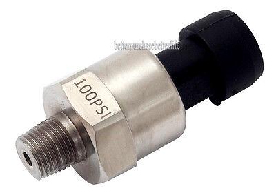 Pressure Transducer or Sender, 100psi NPT1/8, for Oil,Fuel,Diesel,Gas,Air,Water