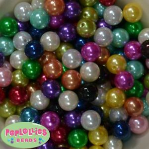 14mm Blue Acrylic Solid Bubblegum Beads Lot 20 pc.chunky gumball