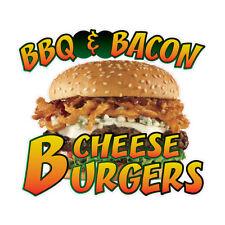 Food Truck Decals Bbq Bacon Burgers Concession Die Cut Vinyl Sticker