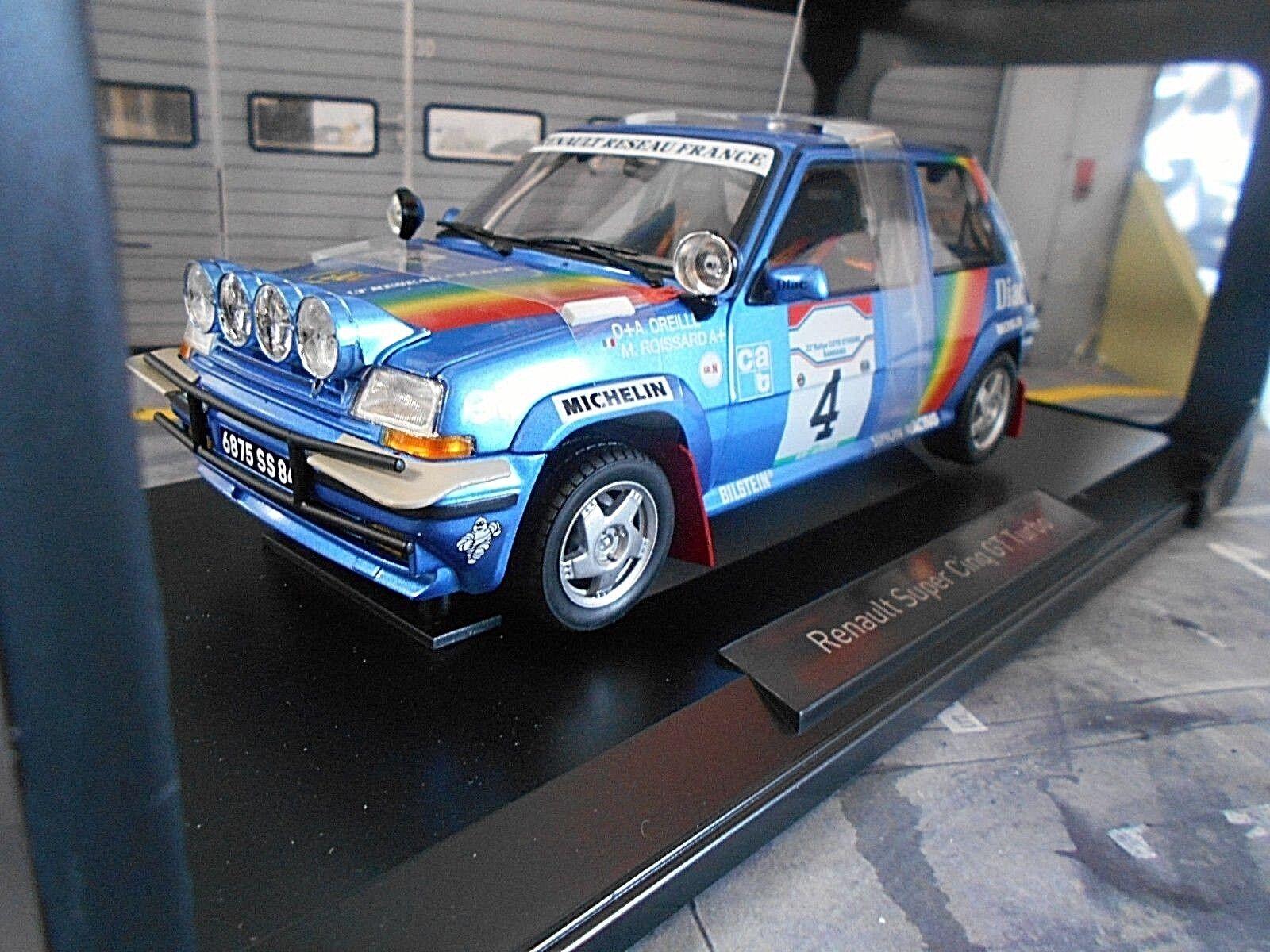 RENAULT 5 TURBO GT Rally Bandama AVORIO 1990  4 Oreille Diodo undici NOREV 1 18