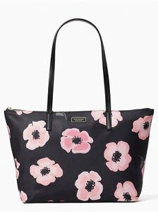 Kate Spade Hayden Nylon Top Zip Tote Bag Black Multi WKR00511