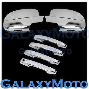 07-14-Chevy-Suburban-Tahoe-Chrome-FULL-Mirror-4-Door-Handle-no-PSG-Keyhole-Cover