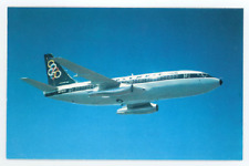 Olympic Airways Postcard - Vintage 1960's Boeing 737-200 Jet Air Airplane Card