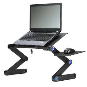 Modern Adjustable Portable Folding Laptop Desk Computer Table Stand Tray For Bed