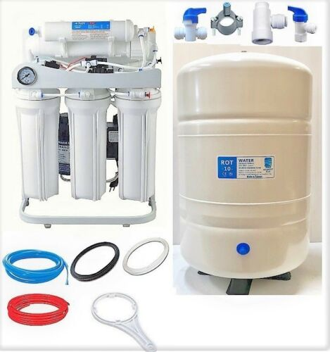 RO Reverse Osmosis Water FIltration System 200 GPD LPF 10 G Tank Booster Pump WH