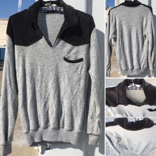 Vintage Velour & Terry Cloth Sweater Shirt Hippy 7