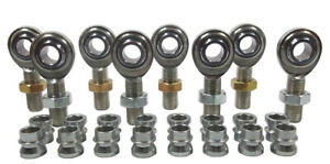 CHROMOLY 4 LINK KIT 1//2 x 5//8-18 HEIM JOINT 1//2 STEEL CONE SPACERS /& BUNG .120