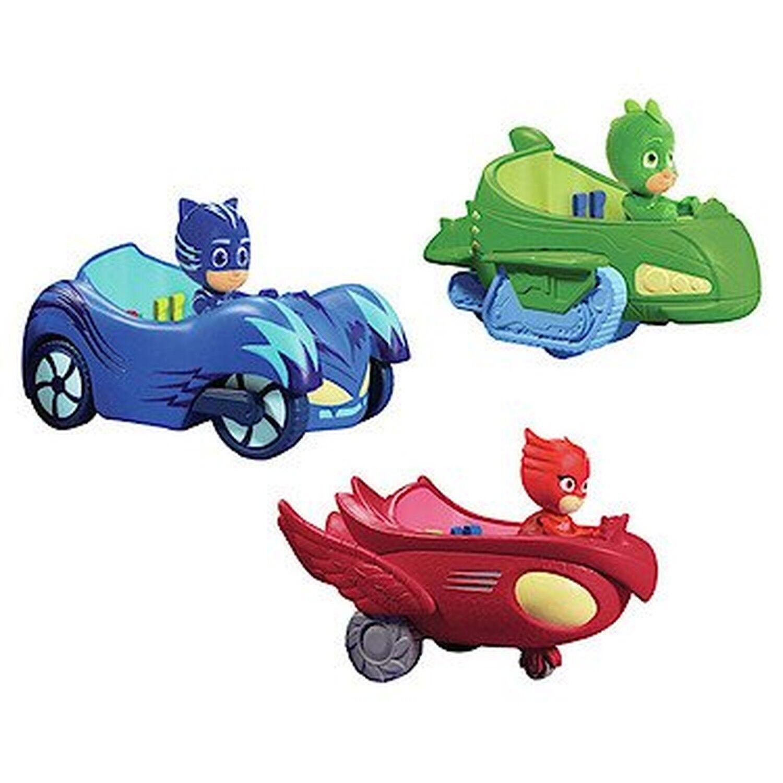 PJ Masks 3 Mobile Vehicles Bundle CAT CAR, OWL OWL OWL GLIDER and GEKKO MOBILE c3f3dd