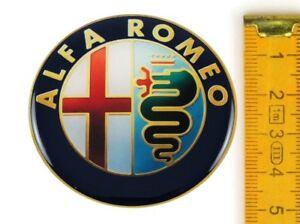 alfa romeo 4 st ck silikon 50mm aufkleber emblem. Black Bedroom Furniture Sets. Home Design Ideas
