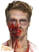 Halloween Zombie Jaw Prosthetic Wound Kit Latex Scar Fancy Dress Gore Make Up FX
