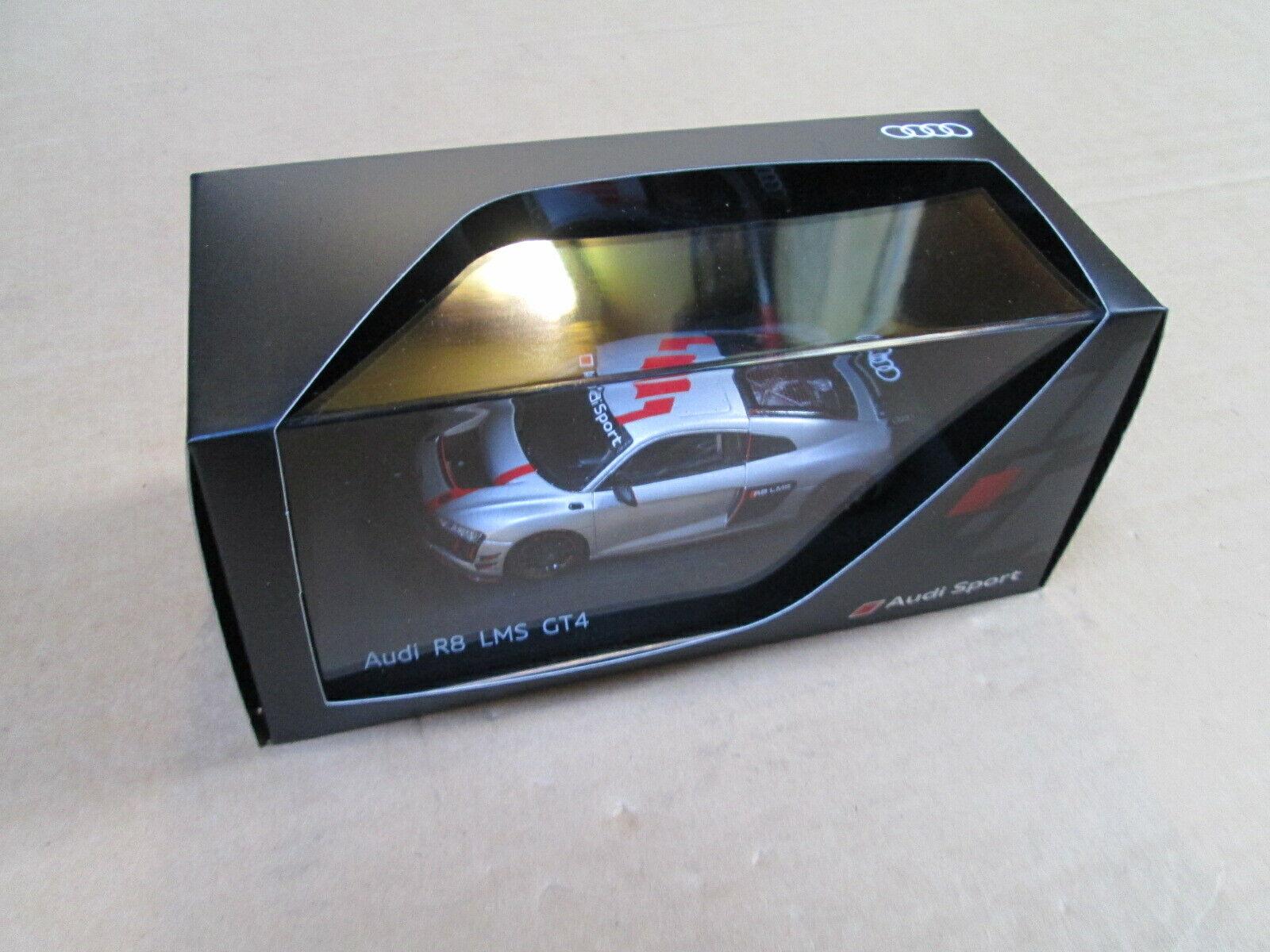 NUOVI originali confezionati 1 43 AUDI R8 LMS GT4 argentoo modellolo Auto 5021700531