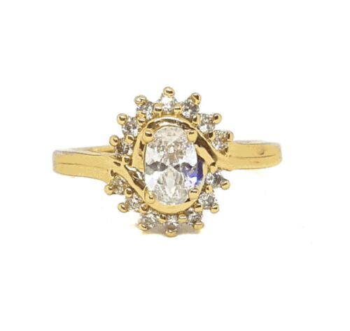 New 9Ct Gold Filled Cluster  Ring  with CZ  B150
