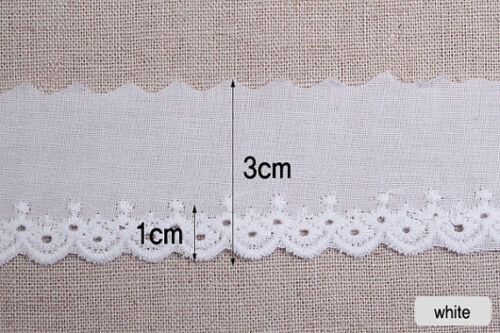 "14Yds Embroidery scalloped cotton eyelet lace white 1.2/"" YH1304 laceking2013"