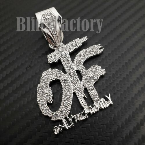 """Iced Only the Family OTF Pendant /& 6mm 20/"""" CZ Choker Chain Hip Hop Necklace"""