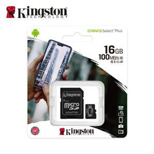 Kingston-16GB-MicroSD-SDHC-Class10-C10-U1-A1-Memory-Card-TF-100MBs-with-Adapter