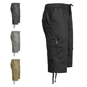 uomo-sotto-lunghezza-al-ginocchio-stile-militare-vita-elasticizzata-SHORTS-3-4