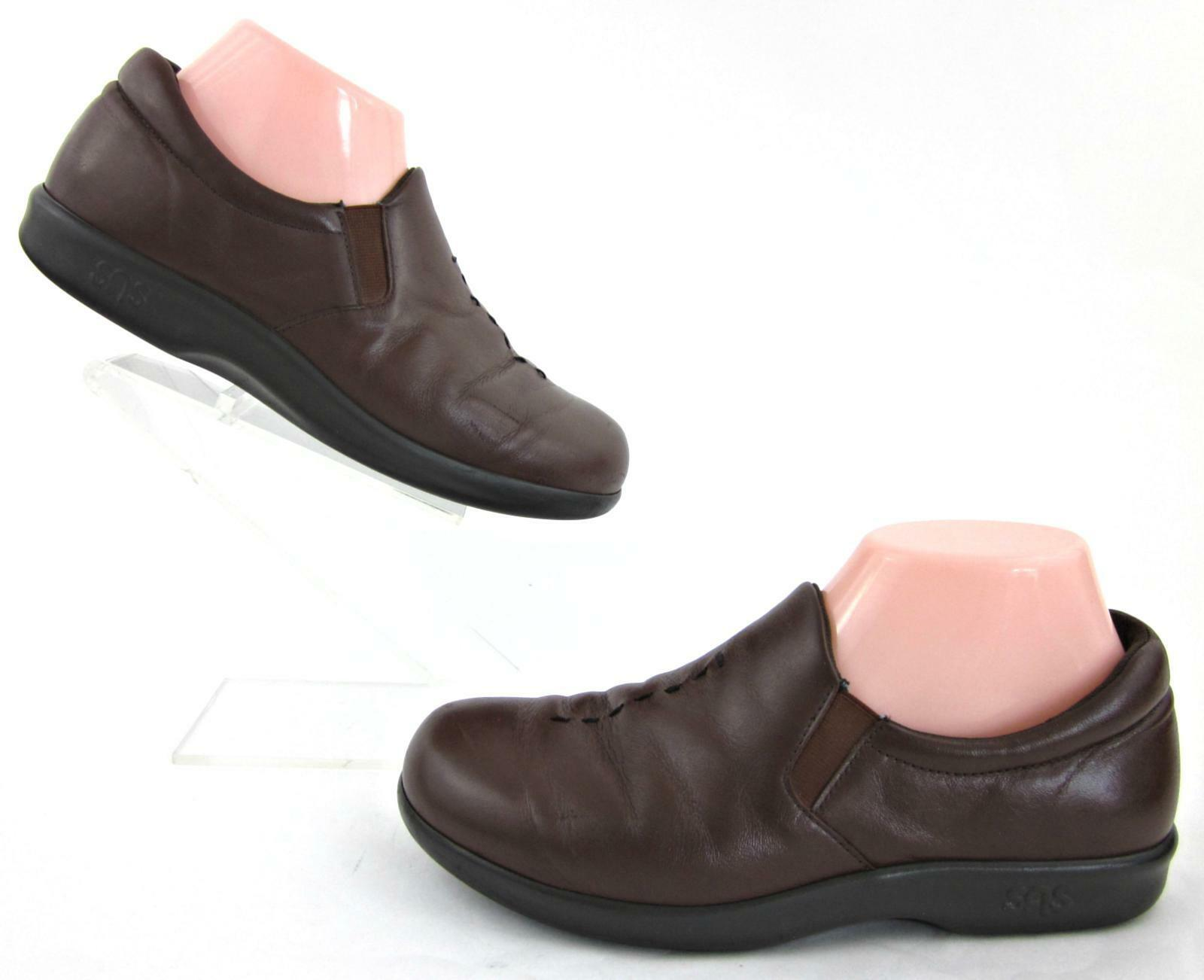 SAS 'Viva' damen Slip On Comfort schuhe braun Leather US 7M