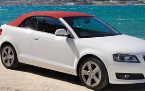 AUDI-A3-CONVERTIBLE-MAROON-MOHAIR-HOOD-WITH-GLASS-REAR-WINDOW-NEW-2008-2013