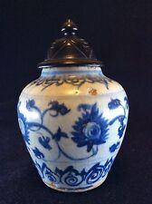 Chine petit pot  à couverte blanc bleu craquelée Xuande China Asie Asia ZHONGGUO