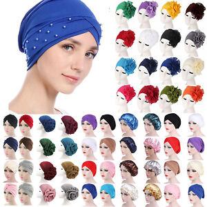 Damen Turban Hüte Mütze Bandana Schlafhaube Kopftuch Nachtkappe Beanie Chemo Cap