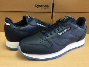 Image is loading MENS-REEBOK-CLASSIC-LEATHER-ICE-V48521-Navy-White- 00ac5879f