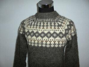 vintage-Sneldan-Faroe-Island-Islandpullover-Strickpullover-hand-knitting-Lopi-M