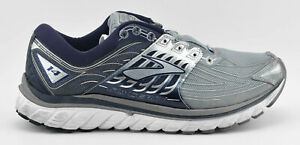MENS-BROOKS-GLYCERIN-14-RUNNING-SHOES-SIZE-11-5-GRAY-NAVY-BLUE-SILVER-WHITE