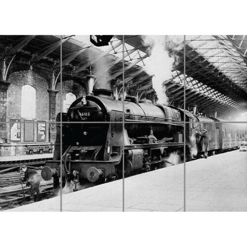 Old Steam Train 1962 Giant Wall Mural Art Poster Picture Print 47x33 Inches