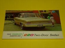 1965 RAMBLER AMERICAN 220 2-DOOR SEDAN POSTCARD, DEALER ADVERTISEMENT