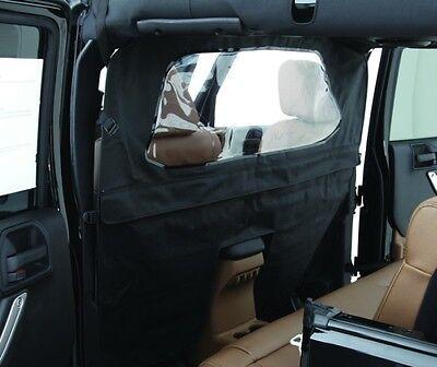 Smittybilt Outback Wind Breaker - Black for 07-16 Jeep Wrangler JK 4 Door 90335